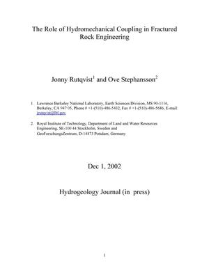 Primary view of object titled 'The role of hydromechanical coupling in fractured rock engineering'.