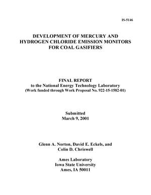 Primary view of object titled 'Development of Mercury and Hydrogen Chloride Emission Monitors for Coal Gasifiers'.