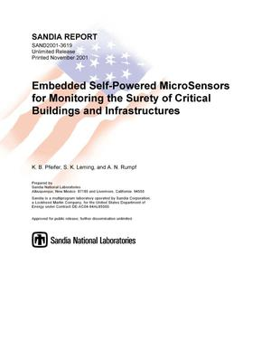 Primary view of object titled 'Embedded Self-Powered MicroSensors for Monitoring the Surety of Critical Buildings and Infrastructures'.