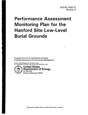 Primary view of object titled 'Performance Assessment Monitoring Plan for the Hanford Site Low Level Waste Burial Grounds'.