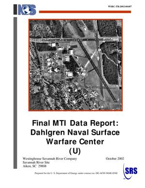 Primary view of object titled 'Final MTI Data Report: Dahlgren Naval Surface Warfare Center'.