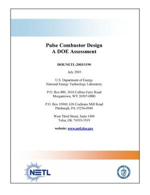 Primary view of object titled 'Pulse Combustor Design, A DOE Assessment'.