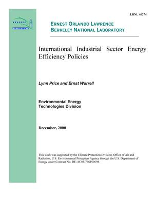 Primary view of object titled 'International industrial sector energy efficiency policies'.