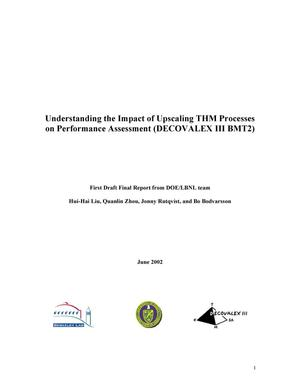 Primary view of object titled 'Understanding the impact of upscaling THM processes on performance assessment'.