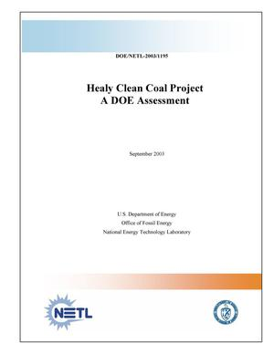 Primary view of object titled 'Healy Clean Coal Project: A DOE Assessment'.