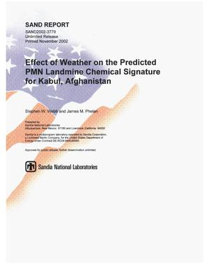 Primary view of object titled 'Effect of Weather on the Predicted PMN Landmine Chemical Signature for Kabul, Afghanistan'.