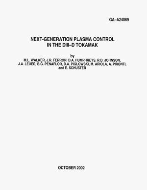 Primary view of object titled 'NEXT-GENERATION PLASMA CONTROL IN THE DIII-D TOKAMAK'.