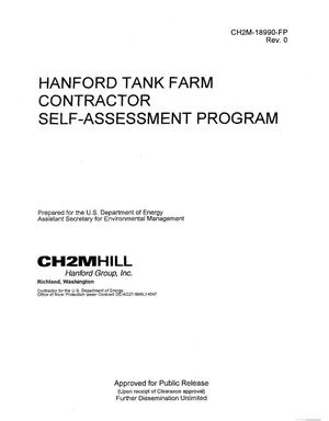 Primary view of object titled 'HANFORD TANK FARM CONTRACTOR SELF ASSESSMENT PROGRAM'.