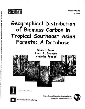Primary view of object titled 'Geographical Distribution of Biomass Carbon in Tropical Southeast Asian Forests: A Database'.