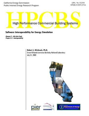 Primary view of object titled 'Software interoperability for energy simulation'.