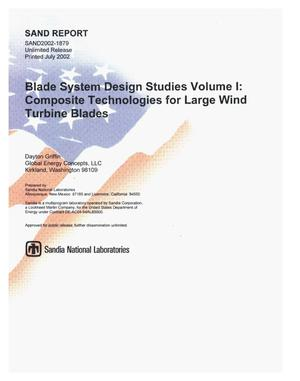 Primary view of object titled 'Blade System Design Studies Volume I: Composite Technologies for Large Wind Turbine Blades'.