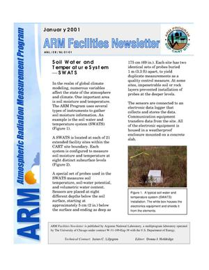 Primary view of object titled 'Atmospheric Radiation Measurement Program facilities newsletter, January 2001.'.