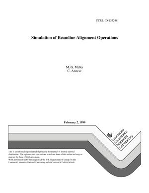 Primary view of object titled 'Simulation of beamline alignment operations'.