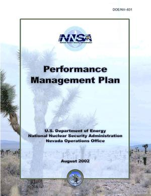 Primary view of object titled 'Performance Management Plan'.