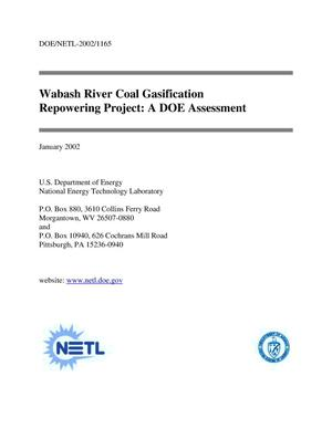 Primary view of object titled 'Wabash River Coal Gasification Repowering Project: A DOE Assessment'.