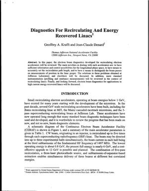 Primary view of object titled 'Diagnostics for Recirculating and Energy Recovery Linacs'.