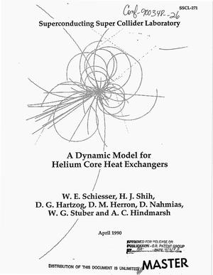 Primary view of object titled 'A dynamic model for helium core heat exchangers'.