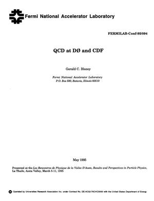Primary view of object titled 'QCD at D0 and CDF'.