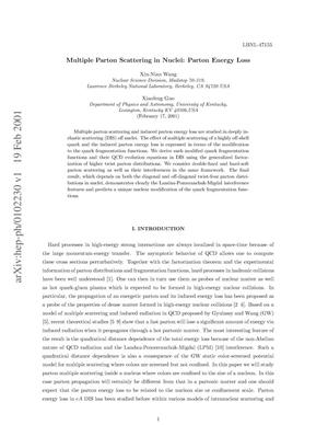 Primary view of object titled 'Multiple parton scattering in nuclei: Parton energy loss'.