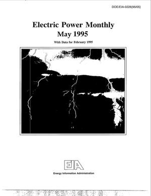 Primary view of object titled 'Electric power monthly, May 1995 with data for February 1995'.