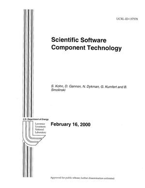 Primary view of object titled 'Scientific Software Component Technology'.