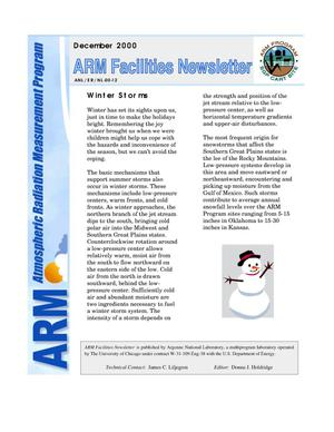 Primary view of object titled 'Atmospheric Radiation Measurement Program facilities newsletter, December 2000.'.
