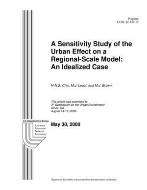Primary view of object titled 'A Sensitivity Study of the Urban Effect on a Regional-Scale Model: An Idealized Case'.