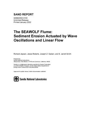 Primary view of object titled 'The SEAWOLF Flume: Sediment Erosion Actuated by Wave Oscillations and Linear Flow'.