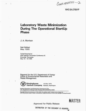Primary view of object titled 'Laboratory waste minimization during the operation startup phase'.