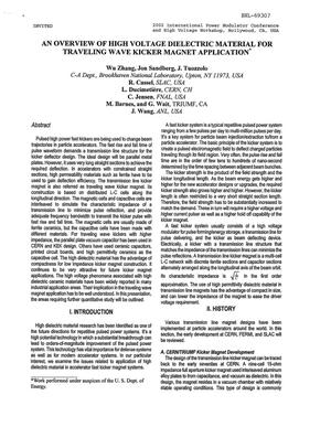 Primary view of object titled 'AN OVERVIEW OF HIGH VOLTAGE DIELECTRIC MATERIAL FOR TRAVELING WAVE KICKER MAGNET APPLICATION.'.