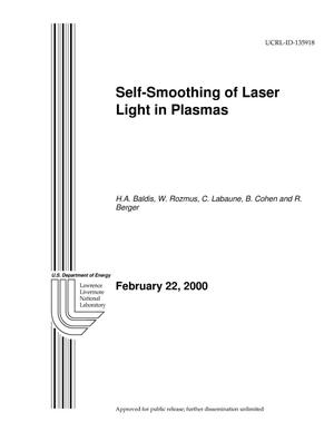 Primary view of object titled '''Self-Smoothing of Laser Light in Plasmas''.'.