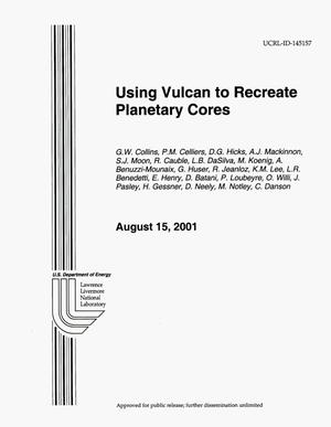 Primary view of object titled 'Using Vulcan to Recreate Planetary Cores'.
