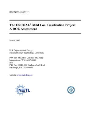 Primary view of object titled 'The ENCOAL Mild Coal Gasification Project, A DOE Assessment'.