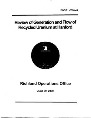 Primary view of object titled 'Review of Generation and Flow of Recycled Uranium at Hanford'.