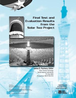 Primary view of object titled 'Final Test and Evaluation Results from the Solar Two Project'.