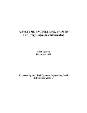 Primary view of object titled 'A systems engineering primer for every engineer and scientist'.