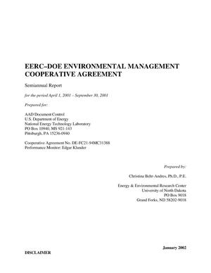 Primary view of object titled 'EERC - DOE ENVIRONMENTAL MANAGEMENT COOPERATIVE AGREEMENT'.