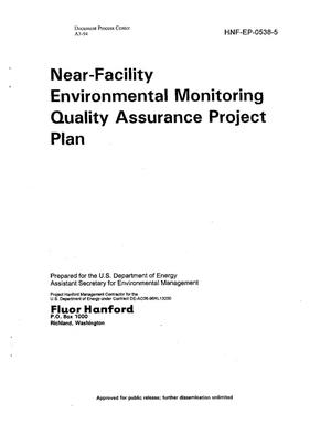 Primary view of object titled 'Near Facility Environmental Monitoring Quality Assurance Project Plan'.