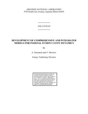 Primary view of object titled 'Development of comprehensive and integrated models for inertial fusion cavity dynamics.'.
