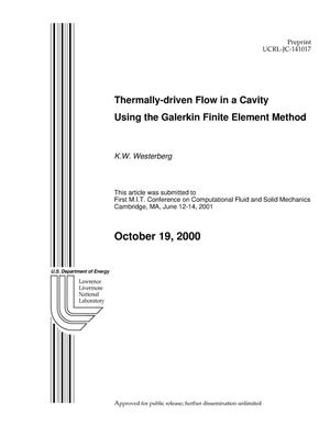 Primary view of object titled 'Thermally-Driven Flow in a Cavity using the Galerkin Finite Element Method'.