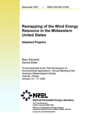 Primary view of object titled 'Remapping of the Wind Energy Resource in the Midwestern United States: Preprint'.