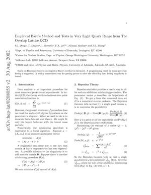 Primary view of object titled 'Empirical Baye's Method and Tests in Very Light Quark Range from The Overlap Lattice QCD'.