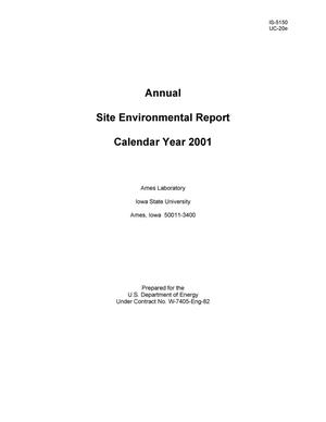 Primary view of object titled 'Site Environmental Report-Calendar Year 2001'.