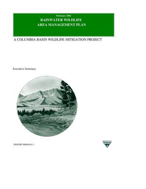 Primary view of object titled 'Rainwater Wildlife Area Management Plan : Executive Summary.'.