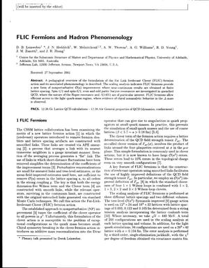 Primary view of object titled 'FLIC Fermions and Hadron Phenomenology'.