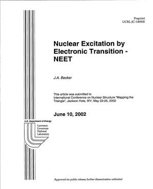 Primary view of object titled 'Nuclear Excitation by Electronic Transition - NEET'.