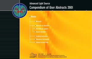 Primary view of object titled 'Advanced Light Source Compendium of User Abstracts 2001'.