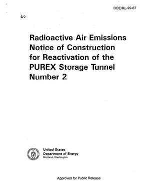 Primary view of object titled 'Radioactive air emissions notice of construction for deactivation of the PUREX storage tunnel number 2'.