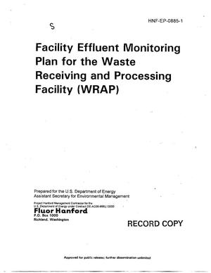Primary view of object titled 'Facility Effluent Monitoring Plan for the Waste Receiving and Processing (WRAP) Facility'.