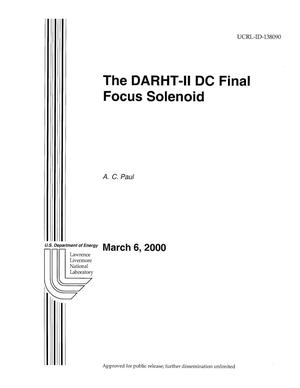 Primary view of object titled 'The DARHT-II-DC Final Focus Solenoid'.